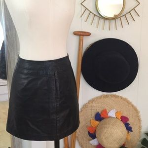 BCBG MaxAzria Leather skirt